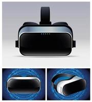 tre tillbehör för virtual reality-masker vektor