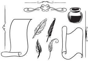 Freie Antike Schreiben Vektoren