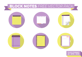 Block Notes Free Vector Pack