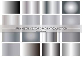 Metallic-grau Vektorgradient Sammlung