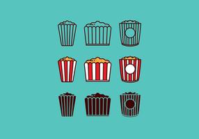 Fri Popcorn Box vektor