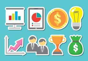 Glänzend Business Icon Vektoren