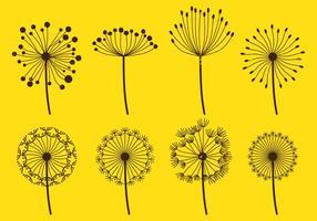 Dandelion Fluff Sets vektor