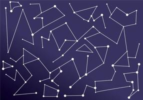 Konstellation Polygonal bakgrund Vektorer