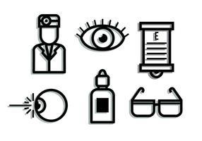 Augenarzt-Schatten-Elemente vektor