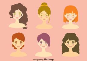 Schönes Mädchen Kopfgrafik vektor