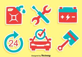 Große Auto-Service-Icons Vector