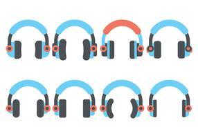 Kopfhörer Wohnung Symbol Vektor