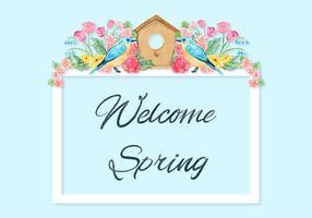 Frühling Zitat Hintergrund vektor