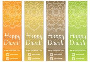 Diwali bokmärken vektor