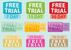 Free Trial Vector Etiketter