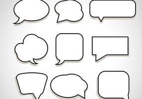 Nachricht Chat Blase Vektoren