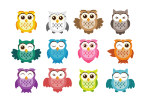 Cute Owl Vektor-Icons