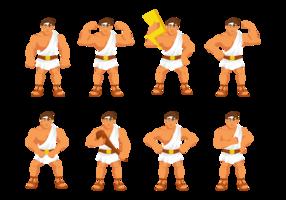 Hercules Karikatur-Vektor