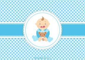 Vektor Nette Weinen Baby Boy