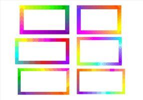 Regenbogen Funky Frames Free Vector