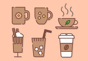 Söt kaffe Vector