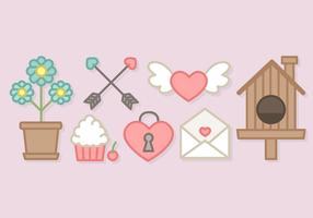 Niedlich Valentinstag Elemente Vektor