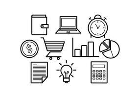 Gratis abonnemang Ikoner Business Vector