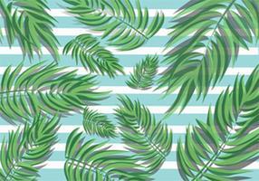 Tropiska palmblad vektor