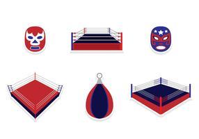 Wrestling-Aufkleber-Entwurf