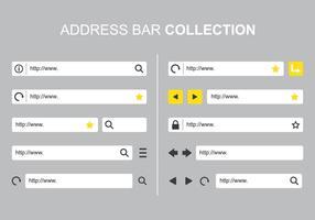 Adress Bar samlingar vektor