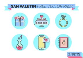 San Valetin Free Vector-Pack