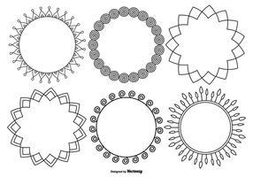 Funky Dekorativ ram Collection vektor