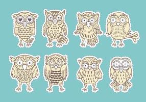 Buho eller Owls vektorer Collection