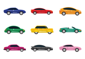 Colorul Carros Vector Icons