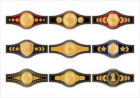 Gold-Meisterschaft Gürtel Vektoren