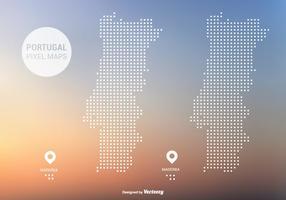 Portugal Pixel Karte Vector
