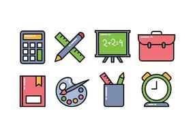 Schule Icon Pack vektor