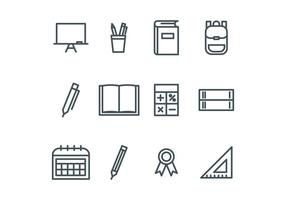 Beskrivs School Ikoner vektor