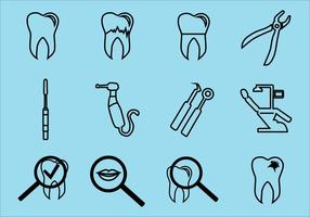Dental Icon Vector Pack