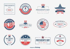 Presidents Day Sale Emblems Vector Set