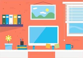 Free Vector Workspace Illustration