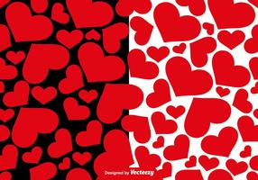 Vektor Herzen Seamless Patterns