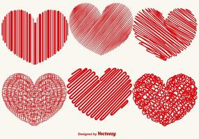 Vector Collection av abstrakt Hearts