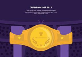 Championship Belt Bakgrund vektor