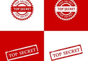 Top Secret Stamp Vektoren