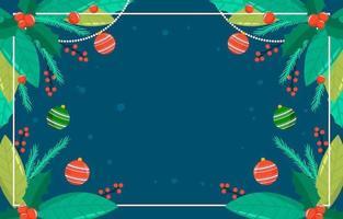 bunte Weihnachtsblätter und Verzierungen Hintergrund vektor