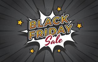 schwarzer Freitag Verkauf mit Comic-Stil vektor
