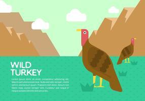 Wild Turkey Bakgrund vektor