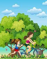 en mor och dotter som tränar