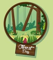 landskap för skogsdag firande vektor
