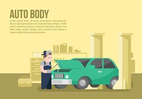 Auto Body und Mechaniker Hintergrund vektor