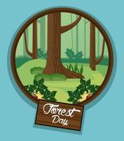 Landschaft für Waldtag Feier
