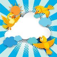 Vogel Phantasie Banner Comic-Cartoon-Stil