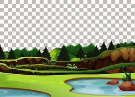 natur utomhus landskap transparent bakgrund vektor